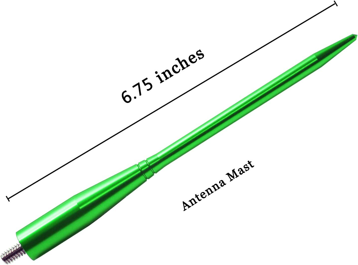6.75 inches-Green JAPower Replacement Antenna Compatible with Jeep Grand Cherokee 2011-2015