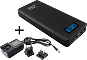 XTPower XT-20000QC3 PowerBank Modern DC/USB Battery with 20100mAh - 5V USB incl. Quick Charge 3.0 - DC 12V to 24V for Laptops, Tablets, Samsung, iPhone, and More!