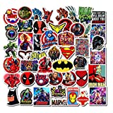 Superheros Marvel Laptop Stickers Cool - DC Comics Decals Vinyl Waterproof for Water Bottle Cars Motorcycle Bicycle Bumper Skateboard Luggage iPad Phone Case Decoration 48 pcs