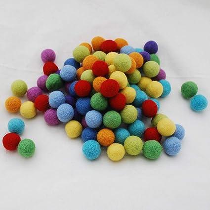 100/% Wool Felt Balls Felt balls  Wool Felt Balls  Pom Poms Avocado x 10-3 Sizes