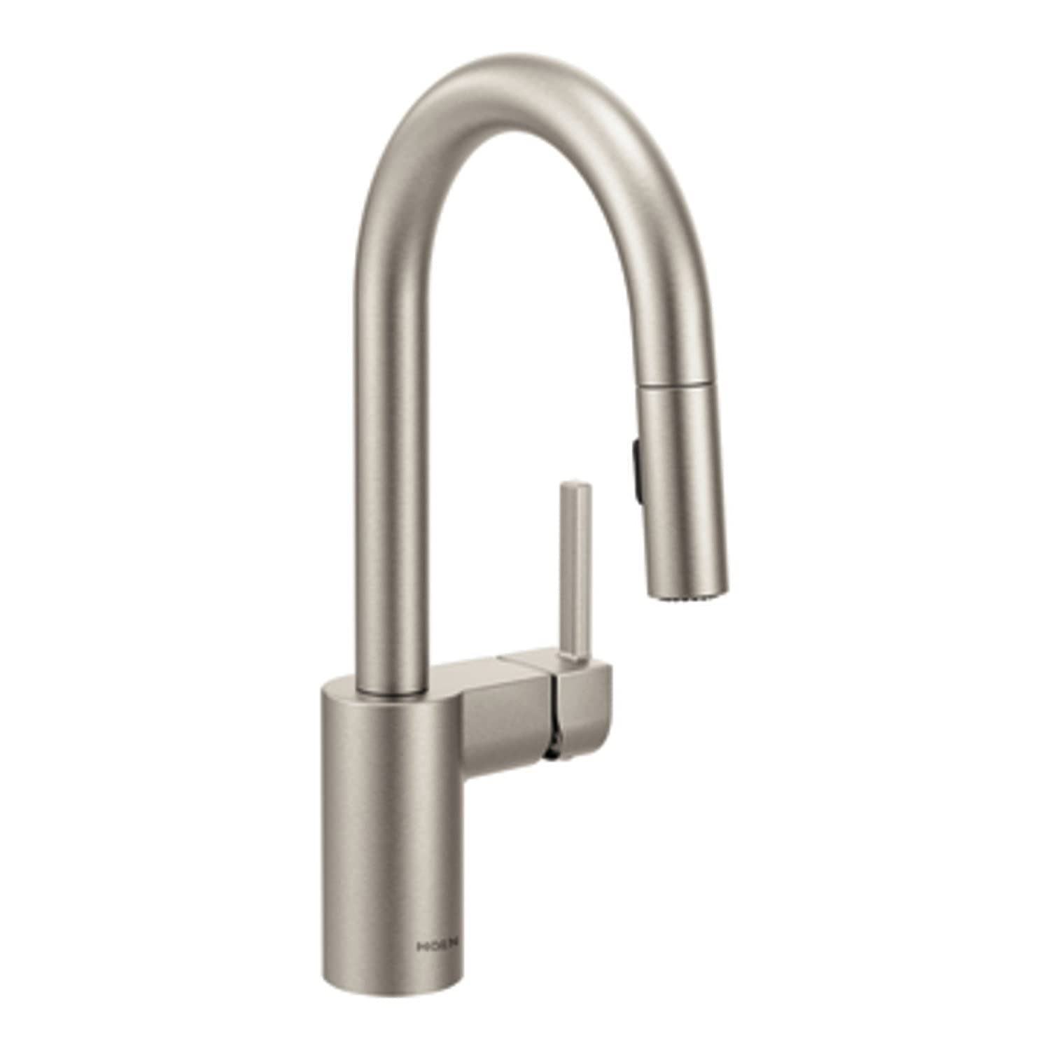 Moen 5965SRS Align One-Handle High Arc Pulldown Bar Faucet featuring ...