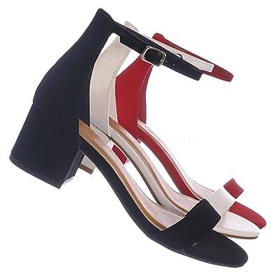 58f6cbf266529 Amazon.com | City Classified Women's Block Open Toe Ankle Strap ...