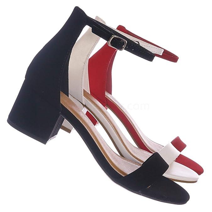 b0f0be6994a City Classified Women's Block Open Toe Ankle Strap Heeled Sandals