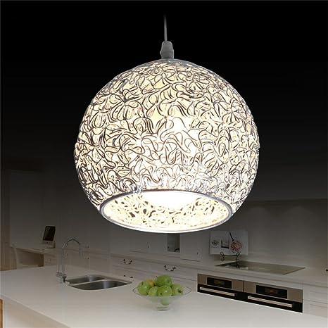 Led Iluminación Colgante para Isla de Cocina Lámpara de Techo Redonda Bola de Aluminio Lámpara Moderna Globo Oficina de Plata Droplight (No Incluída ...