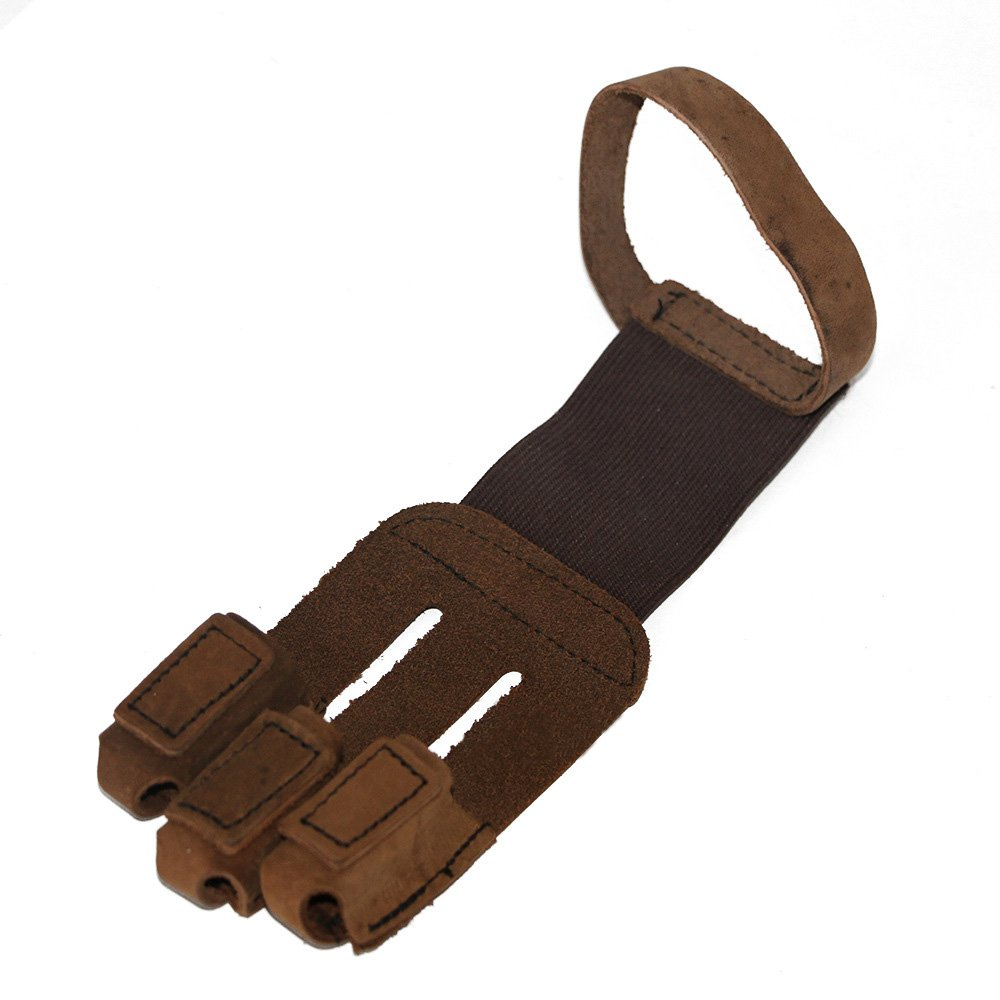 Out Topper Archery Protective Finger Glove,Cowskin Leather Shooting 3 Finger Tab for Hunting Compound Recurve Bows