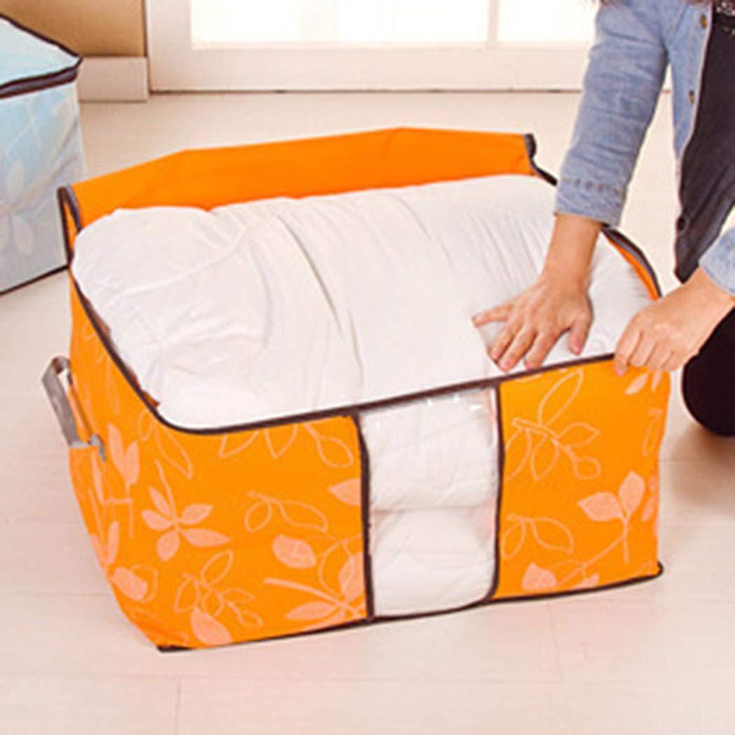 Kaimu Foldable Storage Bag Space Saving Blanket Pillow Quilt Closet Organizer Box Containers
