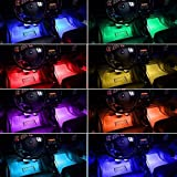 Car LED Light Strip, 4-Pack 36 LED Beads RGB Car Underglow Light Bar, Undercar Neon Glow Lights, Car Interior Light Strip Kit with Sound Active and APP Control
