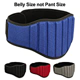 MRX Weight Lifting Belts Fitness Training Gym Back Support Belt 8″ Wide (Blue, Small) For Sale