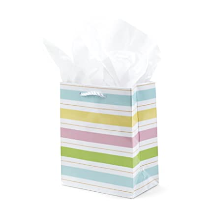 Buy hallmark small easter gift bag with tissue paper multi stripe hallmark small easter gift bag with tissue paper multi stripe 65 by 55 by negle Images