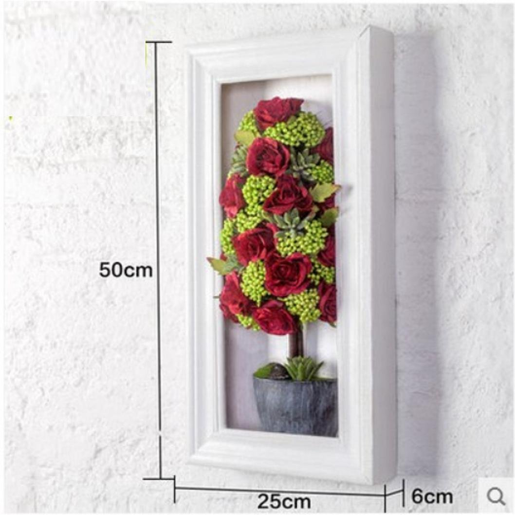JY$ZB Simulation roses wedding background wall ornaments creative three - dimensional wall paintings , 2