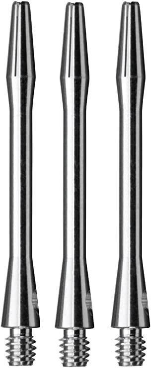 2ba Silver Aluminum Dart Shafts 3 per set .75in
