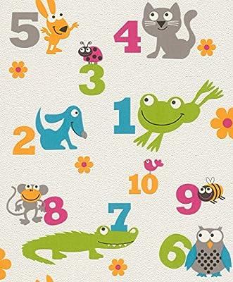 503050 - Kids & Teens II Animals White Multicoloured Galerie Wallpaper