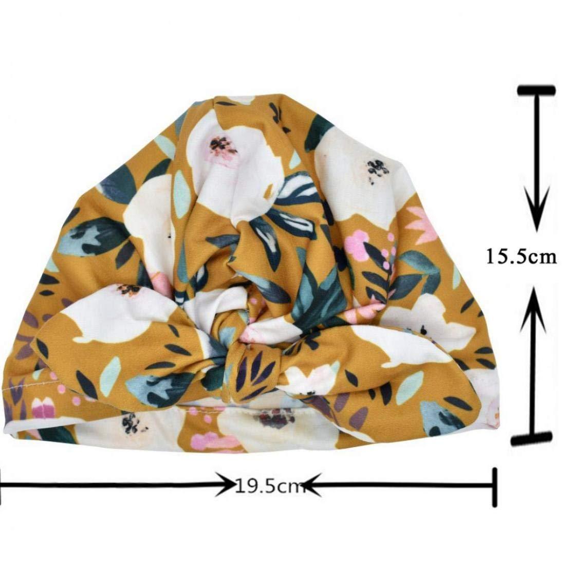 Cappello Neonata con Le Orecchie di Coniglio Cappello Toddlers Morbida Turbante Fiore Knot Bow cap Headwrap per Infante Appena Nato