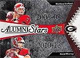 Matthew Stafford & Aaron Murray Football Card (Georgia Bulldogs) 2014 Upper Deck Conference Greats Alumni Stars #152