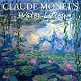 Claude Monets Water Lilies 2018 12 x 12 Inch Monthly Square Wall Calendar with Foil Stamped Cover by Plato, Impressionist Impressionism Art Artist