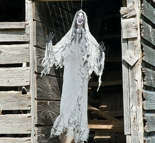 White-Eyed Hanging Vampiress - Halloween Decor]()