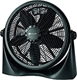 Genesis A3FLOORFANBLACK Avalon Adjustable Table Floor Fan, 16', Black