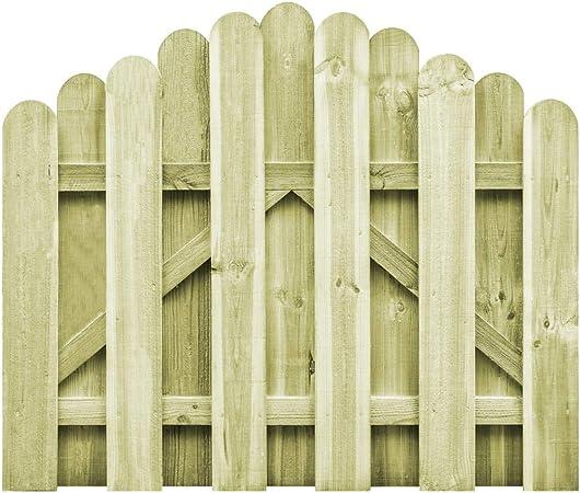 ghuanton Puerta de jardín Madera de Pino impregnada 100x75 cm arqueadaBricolaje Vallas de jardín Puertas de jardín: Amazon.es: Hogar