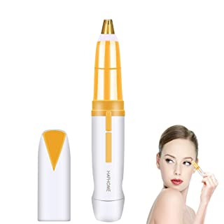 Painless Eyebrow Hair Remover for Women Best Eyebrow Trimmer, Protable Flawlessly Brows Hair Remover for Good Finishing and Well Touch (White)