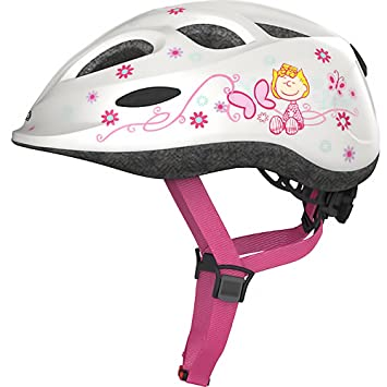 ABUS – Casco de bicicleta para niños Casco Smiley Peanuts Lovely de White 45 – 50