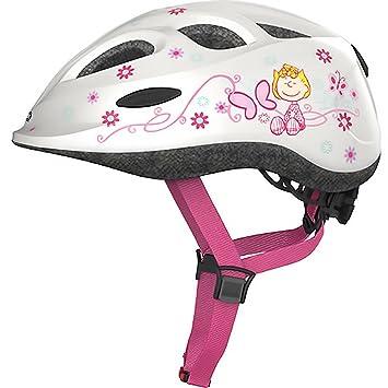 ABUS – Casco de bicicleta para niños Casco Smiley Peanuts Lovely de White 45 – 50