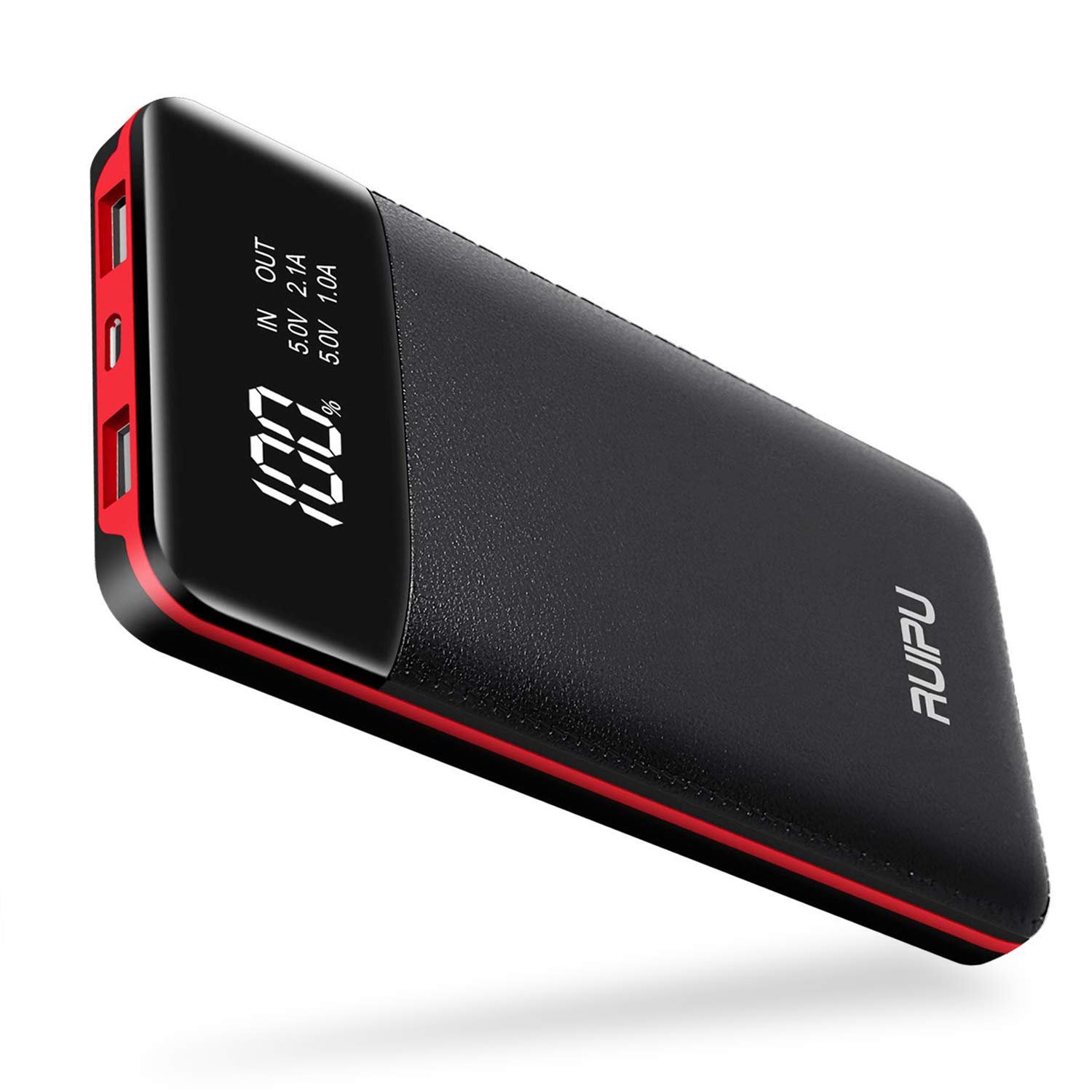 Power Bank Portable Charger 2 USB Outputs 24000mAh High Capacity Charge External Battery Pack with LCD Display, Compatible with Smart Phones,Android Phone,Tablet and More by RUIPU