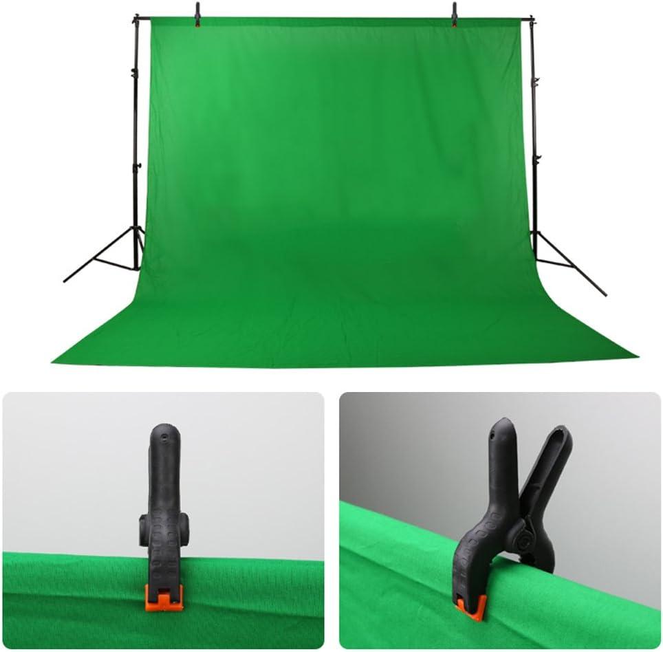Longzhou 6 pi/èces Clips de Studio Photo Pinces /à Ressort pour la Photographie Fond de Toile de Fond Clips de Support Noir avec Rouge