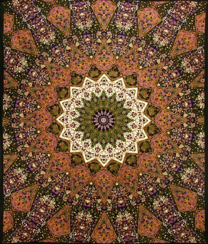 Sunshine Joy Indian Dark Star Elephants Tapestry - 85x100 - Beach Sheet - Hanging Wall Art - 3D Reactive Artwork
