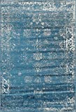 "Unique Loom 3141395 Area Rug, 6"" x 9"", Blue"