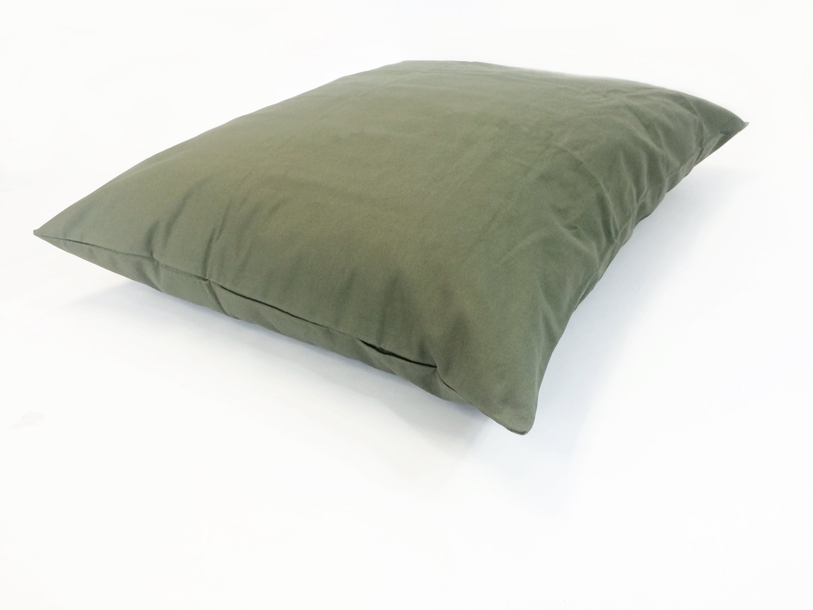 36''x29'' Medium Size MicroCushion High Density Memory Foam Soft Poly Fiber Waterproof Pet Pillow Bed with Removable Zippered Tough Strong Green Canvas Cover Case for Small to Medium Dogs by American Comfort Warehouse (Image #4)