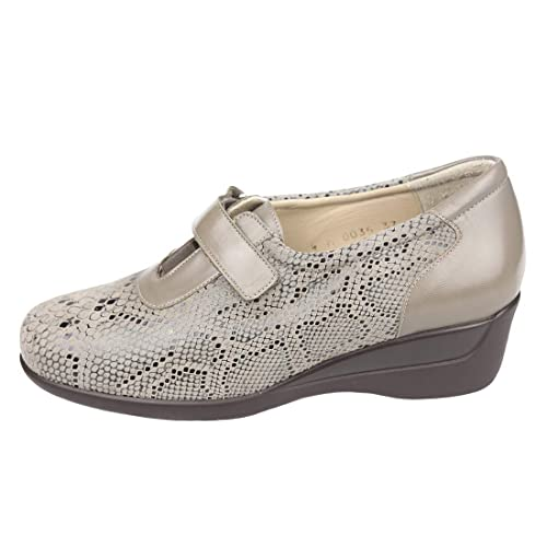 3bfeb809 CARI FALCÓ - Zapato Ancho Especial con Plantillas extraibles, Color Taupe.  con Cierre de Velcro. Zapato Mujer ortopédico. 00035: Amazon.es: Zapatos y  ...