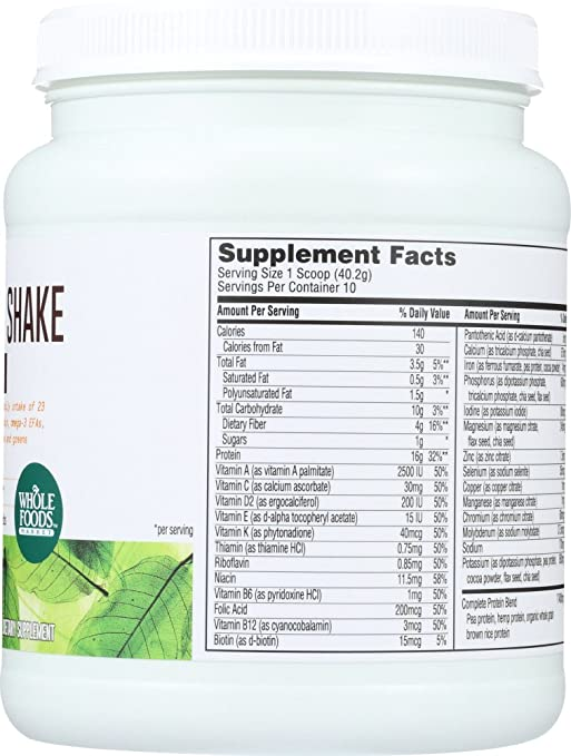Whole Foods Market, Plant-Based Nutritional Shake - Dark Chocolate, 14.2 oz: Amazon.com: Grocery & Gourmet Food