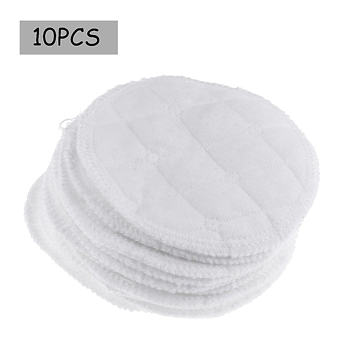 10Pc Washable Women Soft Cotton Absorbent Nursing Pads Round Breast Pads Breastfeeding Pads