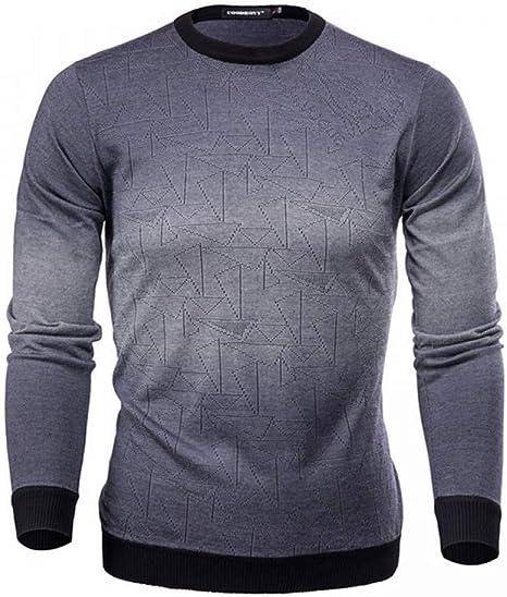 FEIDAO Hombr Jerseys Suéter De Cachemira para Hombre Suéteres para Hombre Camisa Casual Imprimir Lana De Otoño Jersey para Hombre O-Cuello Pull Homme Top: Amazon.es: Deportes y aire libre