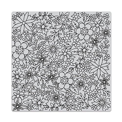 Hero Arts Bold Prints Background Cling Stamps Flowers for Coloring by Hero Arts