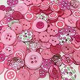 Rosey Craft shops 100 Random mixed buttons (Pink)