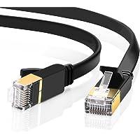 Cable Ethernet Cat7, 5M Cable de Red con Conector RJ45 (10 Gigabit, 600MHZ, Lan Cable Blindado) para Módem, Enrutador, PC, Mac, Computadora Portátil, PS2, PS3, PS4, XBox y XBox 360