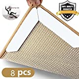 Rug Grippers, Premium 8 pcs Anti Curling Rug Gripper.Keeps Your Rug in Place & Makes Corners Flat, Double Sided Tape Work for Indoor & Outdoor Carpet Mat, Rug Slip Grip,Ideal Anti Slip Rug Pad for You