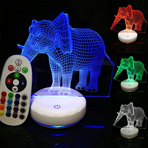 Wireless 3D Night Light With Remote Control Home Decoration Unique LED Night Lamp With Porcelain White Base Rechargeable Battery Operated Table Lamp 7 Color Changing Perfect Kids Gift (Pattern Crystal Table Lamp)