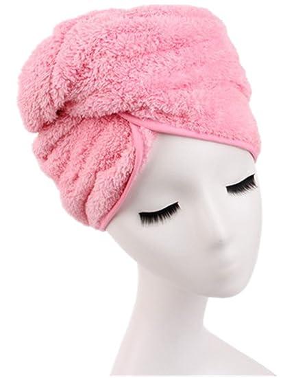 Moolecole Superabsorbente Microfibra Toalla De Baño Seco El Pelo Gorro De Ducha Engrosada Turbante Pelo Sombrero