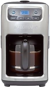 Farberware 12-cup Digital Programmable Coffee Maker, Stainless & Black