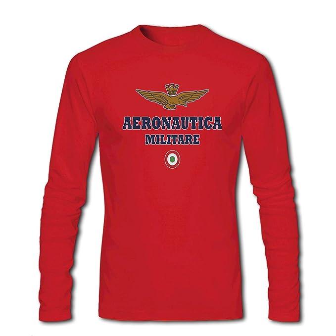 Aeronautica Militare long sleeve Tops T shirts - Camiseta - Hombre rojo rosso XX-Large: Amazon.es: Ropa y accesorios