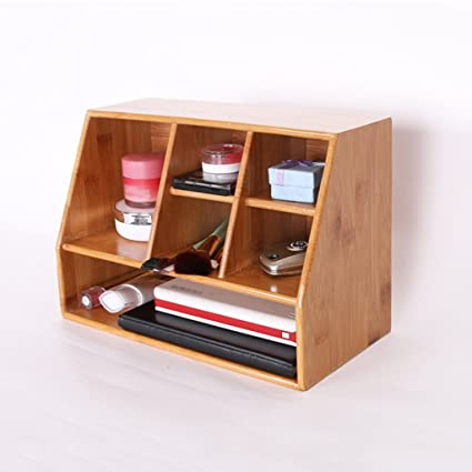 Creative Bamboo Desktop Storage Box Living Room Remote Control Storage Box  Debris Storage Box Cosmetic Storage