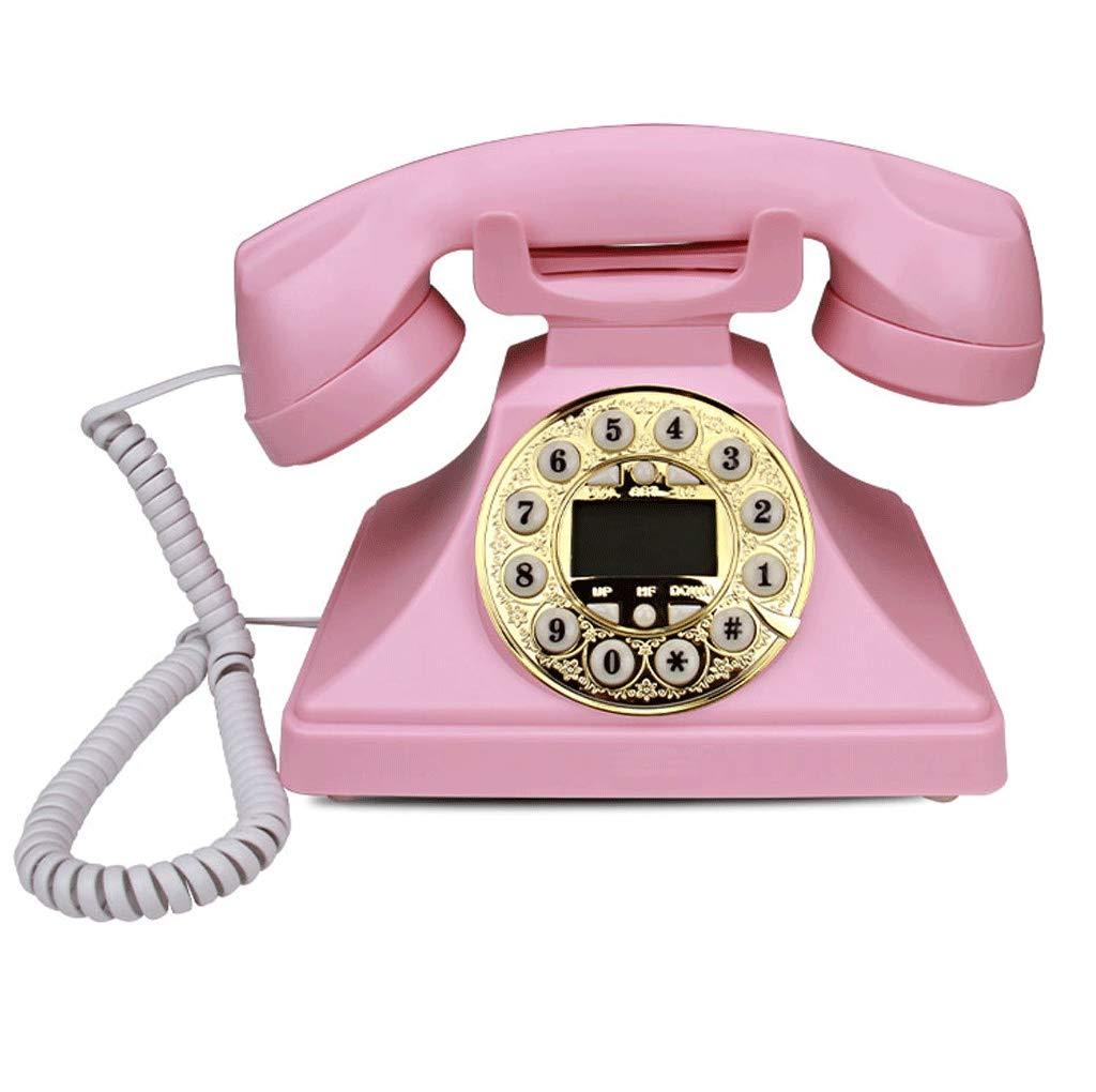 レトロ固定電話ボタンダイヤル電話アンティーク装飾電話ヴィンテージ有線電話   B07TVJ5ZNX