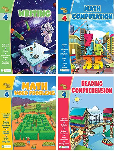Smart Alec (4th Grade) Four Pack Learning Series, Includes: Writing, Math Readiness, Reading Readiness, Math Word (Math Game Series)