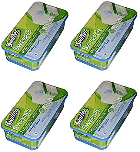 Swiffer PG-3231 Sweeper Wet Mopping Cloth Refill - Open Window Fresh - 4 Pack (24 Count) by Swiffer
