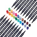 STA 24 Color Watercolor Brush Pens Art Markers Unique Liner Brush Dual Tip