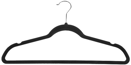196 opinioni per AmazonBasics- Gruccia in velluto per abiti da uomo, 50 pezzi, colore nero