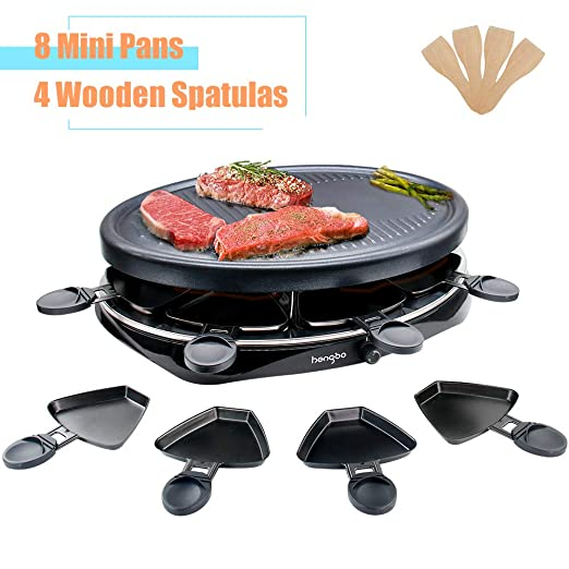 Raclette Grill Parrilla Electrico per 8 Persone Portatil Barbacoa ...