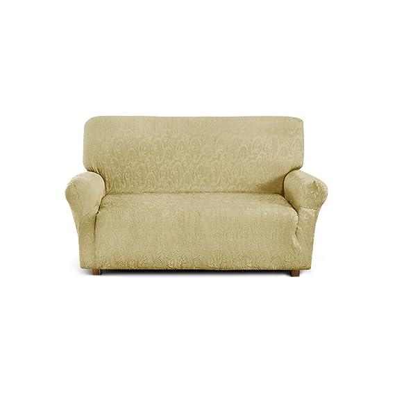 Funda de sofá de 2 plazas (de 110 cm a 150 cm) - Color Amarillo